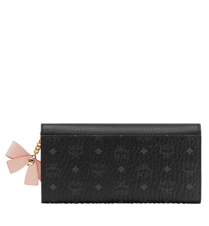 MCM Mina Bow Charm Three Fold Wallet MYL8SLL94BK001 AlternateView3