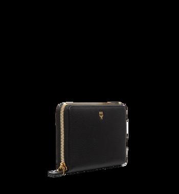 MCM Milla Brieftasche mit Rundum-Reißverschluss aus gemasertem Leder MYL8SMA04BK001 AlternateView2
