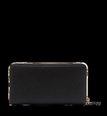 MCM Milla Brieftasche mit Rundum-Reißverschluss aus gemasertem Leder MYL8SMA04BK001 AlternateView3