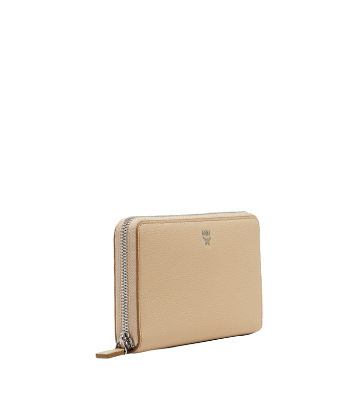MCM Milla Zip Around Wallet in Grained Leather MYL8SMA04IA001 AlternateView2
