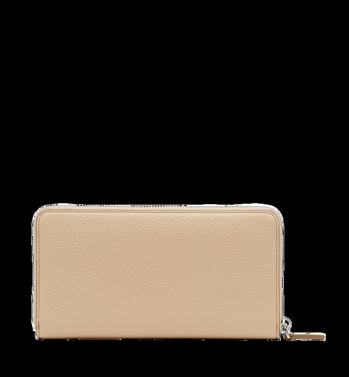 MCM Milla Zip Around Wallet in Grained Leather MYL8SMA04IA001 AlternateView3