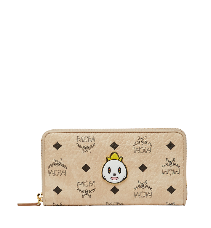 MCM MCM x Eddie Kang Zip Around Wallet in Visetos MYL8SOC46IG001 AlternateView