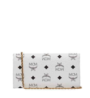MCM Patricia Crossbody Wallet in Visetos MYL8SPA11WT001 AlternateView3
