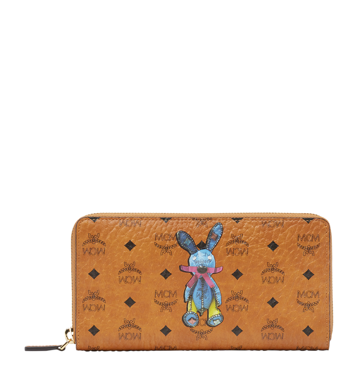 MCM Rabbit Zip Around Wallet in Visetos MYL8SXL31CO001 AlternateView