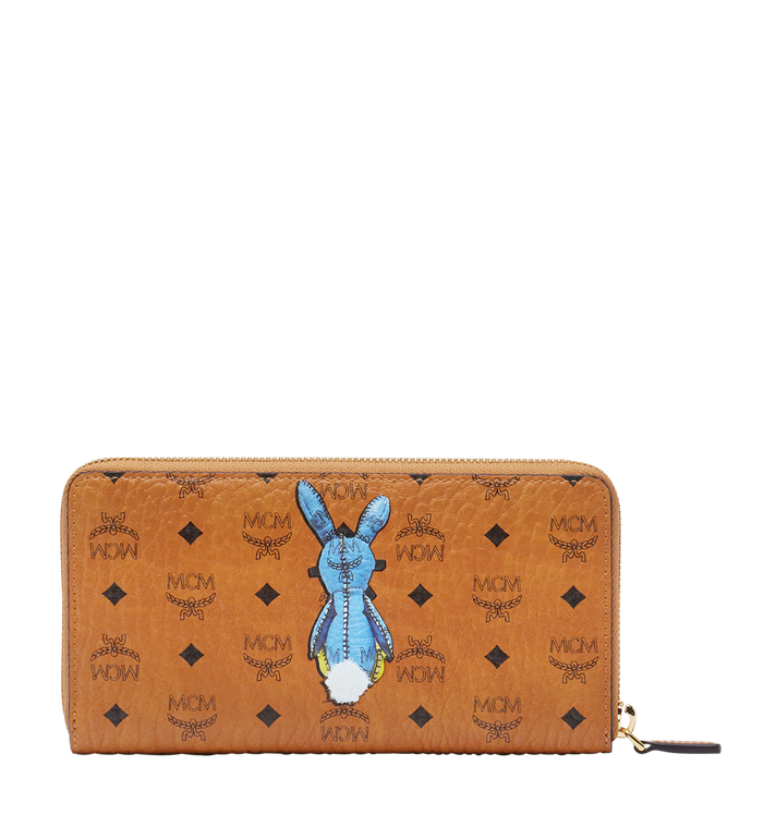 MCM Rabbit Zip Around Wallet in Visetos MYL8SXL31CO001 AlternateView3