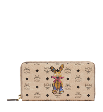 MCM Rabbit Zip Around Wallet in Visetos MYL8SXL31IG001 AlternateView