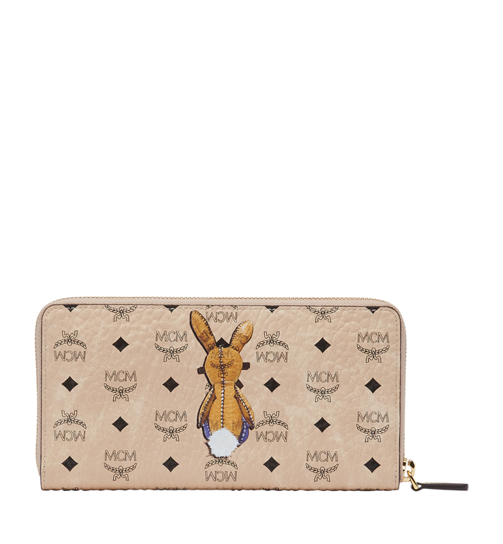 MCM Rabbit Zip Around Wallet in Visetos MYL8SXL31IG001 AlternateView3