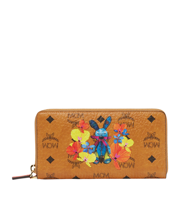 MCM Rabbit Zip Around Wallet in Floral Visetos MYL8SXL32CO001 AlternateView