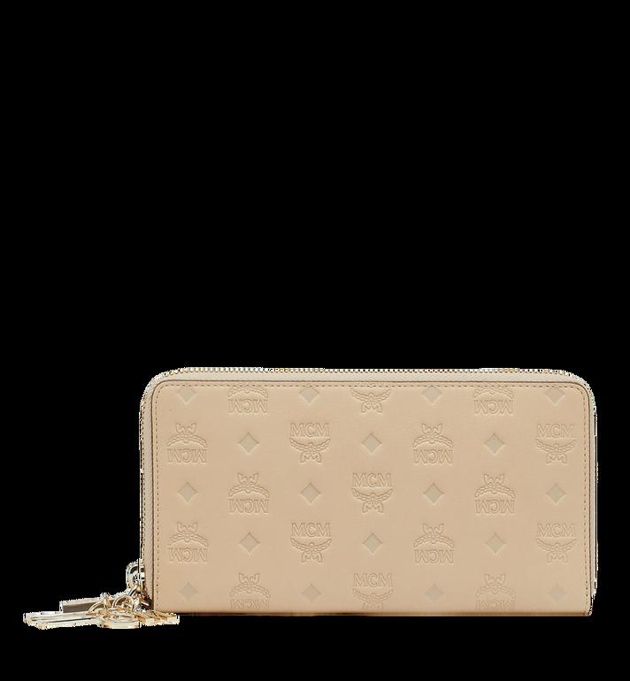MCM Charm-Brieftasche mit Rundum-Reissverschluss aus Leder mit Monogramm AlternateView
