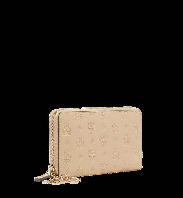 MCM Charm-Brieftasche mit Rundum-Reissverschluss aus Leder mit Monogramm AlternateView2
