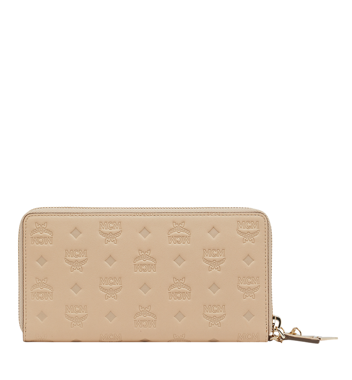 MCM Charm-Brieftasche mit Rundum-Reissverschluss aus Leder mit Monogramm AlternateView3