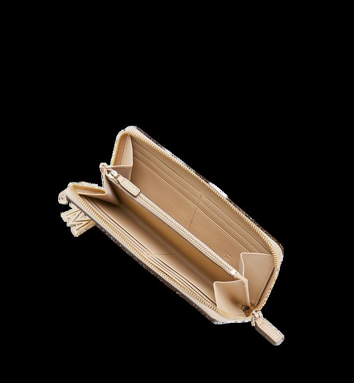 MCM Charm-Brieftasche mit Rundum-Reissverschluss aus Leder mit Monogramm AlternateView4