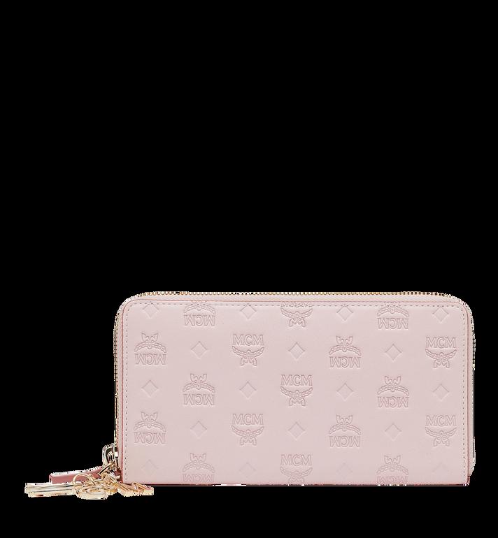 MCM Charm-Brieftasche mit Rundum-Reissverschluss aus Leder mit Monogramm MYL9SKM11QA001 AlternateView