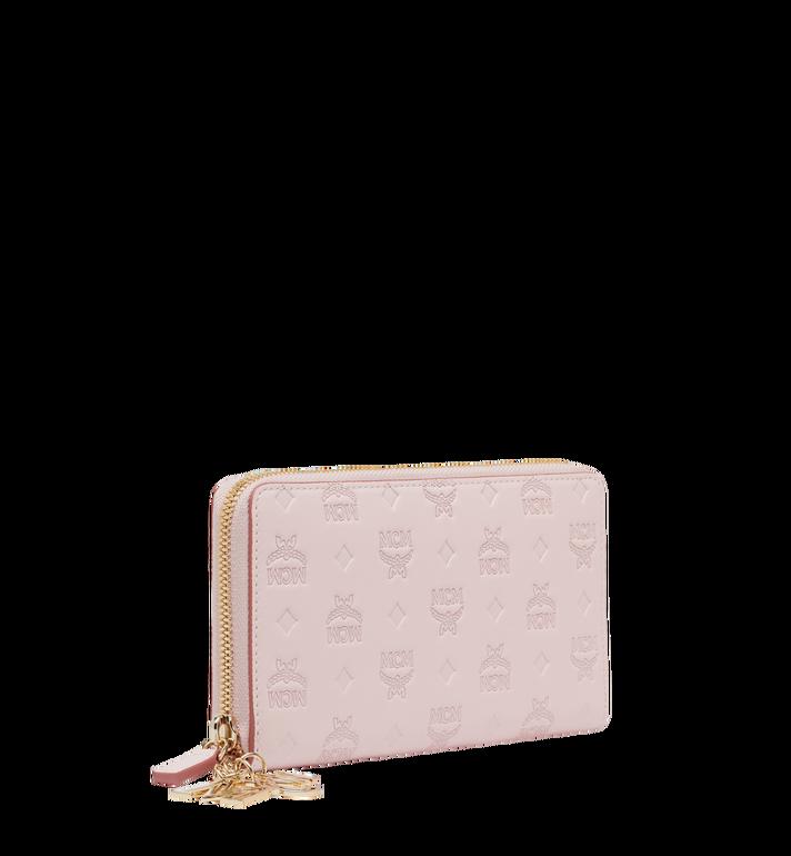 MCM Charm-Brieftasche mit Rundum-Reissverschluss aus Leder mit Monogramm MYL9SKM11QA001 AlternateView2