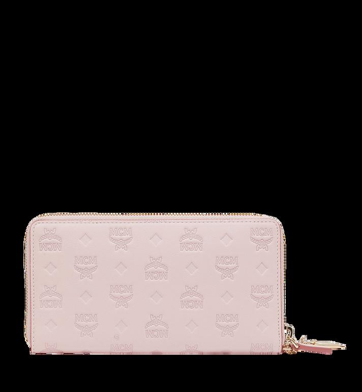 MCM Charm-Brieftasche mit Rundum-Reissverschluss aus Leder mit Monogramm MYL9SKM11QA001 AlternateView3