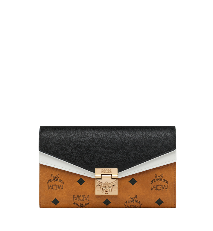 MCM Portefeuille et porte-cartes Patricia en Visetos Leather Block MYL9SPA32CB001 AlternateView1