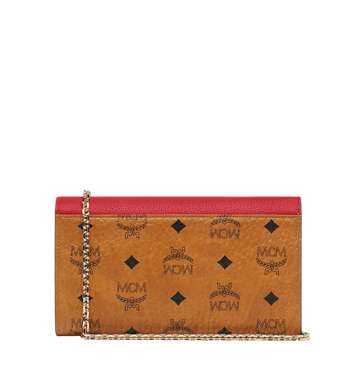 MCM Portefeuille et porte-cartes Patricia en Visetos Leather Block MYL9SPA32CD001 AlternateView4