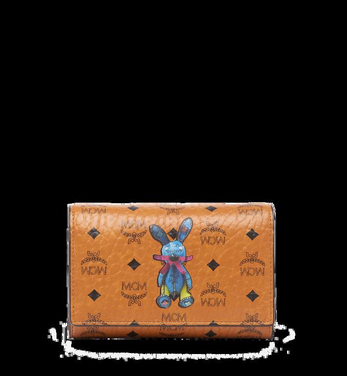 MCM Rabbit Three Fold Wallet in Visetos MYM6AXL52CO001 AlternateView