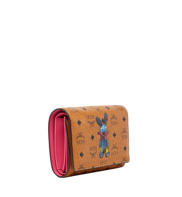 MCM Rabbit Three Fold Wallet in Visetos MYM6AXL52CO001 AlternateView2