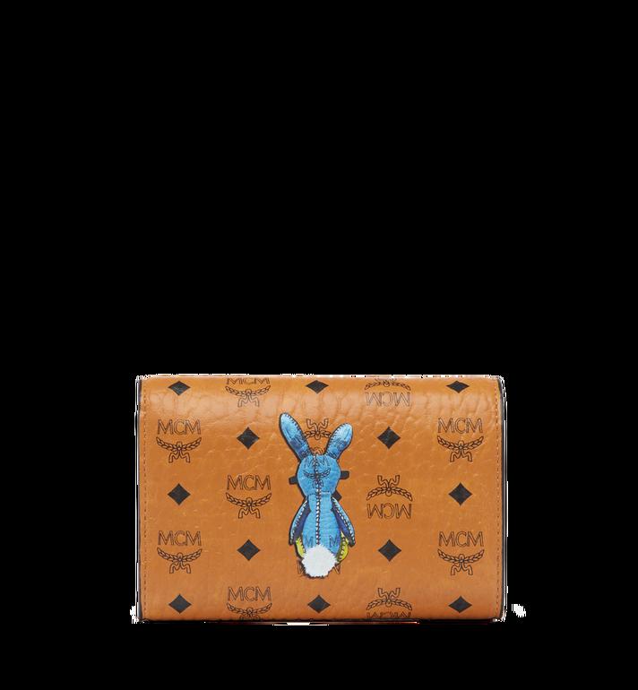 MCM Rabbit Three Fold Wallet in Visetos MYM6AXL52CO001 AlternateView3