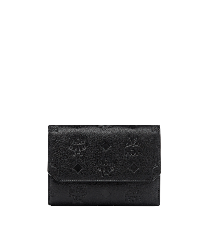 MCM Klara Two Fold Wallet in Monogram Leather MYM7AKM01BK001 AlternateView
