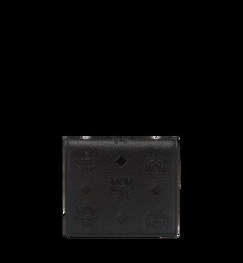 MCM Klara gefaltete Brieftasche aus Leder mit Monogramm MYM7AKM13BK001 AlternateView