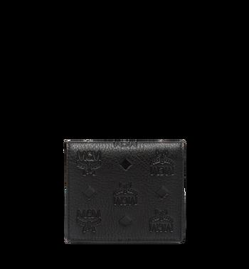 MCM Klara gefaltete Brieftasche aus Leder mit Monogramm MYM7AKM13BK001 AlternateView3