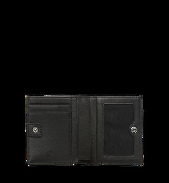 MCM Klara gefaltete Brieftasche aus Leder mit Monogramm MYM7AKM13BK001 AlternateView4