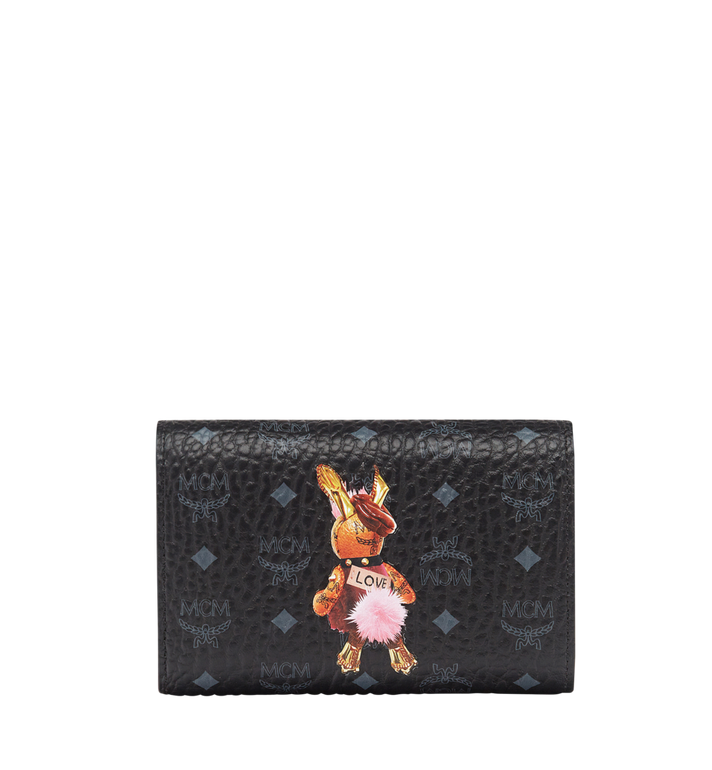MCM 小兔子系列 Visetos 三折钱包 MYM7AXL42BK001 AlternateView3