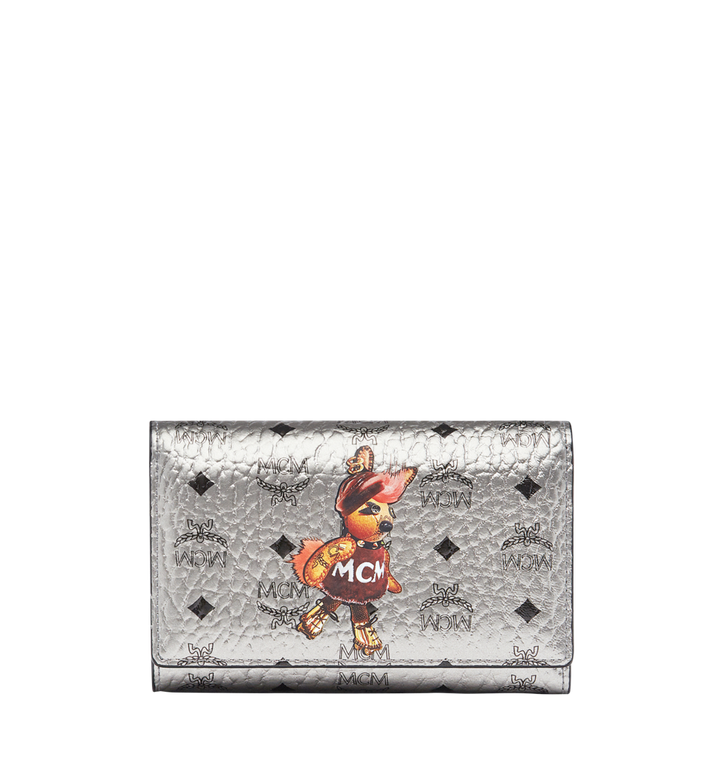 MCM Rabbit Three Fold Wallet in Visetos MYM7AXL42SV001 AlternateView