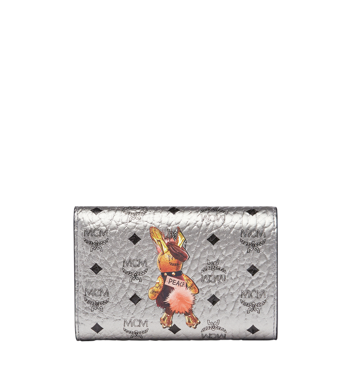 MCM Rabbit Three Fold Wallet in Visetos MYM7AXL42SV001 AlternateView3