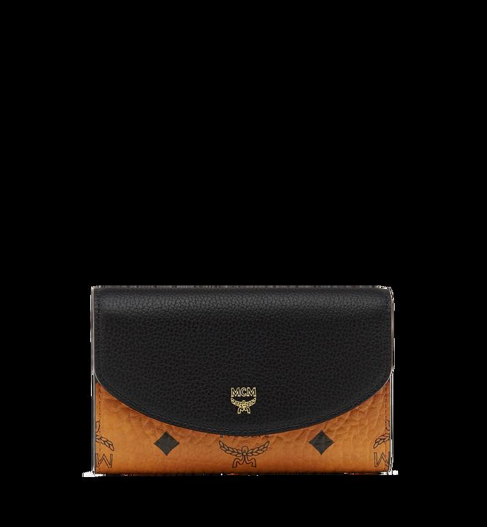 MCM Three Fold Wallet in Visetos Colorblock Leather MYM8SVI15BK001 AlternateView
