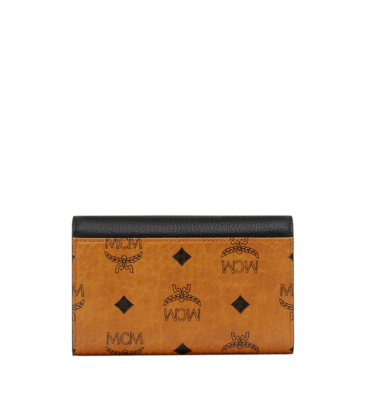 MCM Three Fold Wallet in Visetos Colorblock Leather MYM8SVI15BK001 AlternateView3