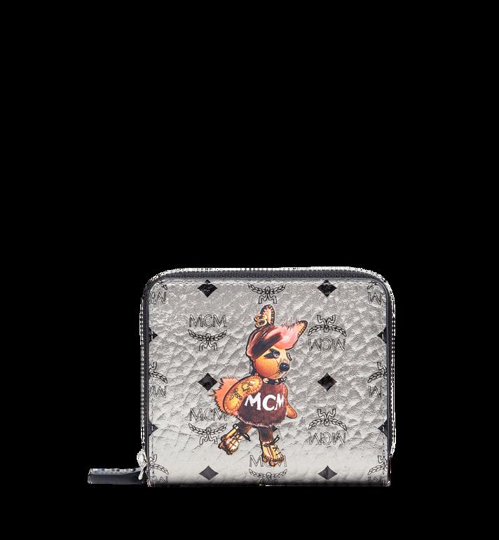 MCM Rabbit Zip Around Wallet in Visetos MYS7AXL33SV001 AlternateView