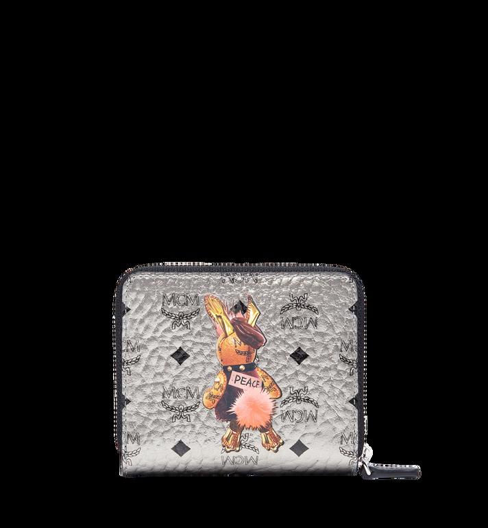 MCM Rabbit Zip Around Wallet in Visetos MYS7AXL33SV001 AlternateView3