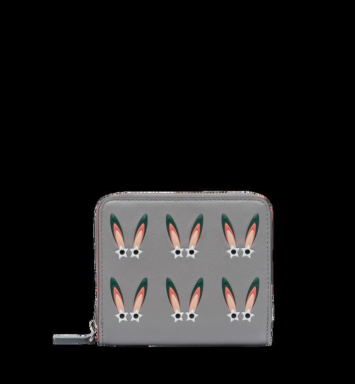 MCM Portefeuille à fermeture éclair Star Eyed Bunny en cuir MYS7AXL35SS001 AlternateView