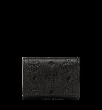 MCM Klara dreifach gefaltete Kleingeldbörse aus Leder mit Monogramm MYS8SKM36BK001 AlternateView