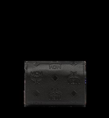 MCM Klara dreifach gefaltete Kleingeldbörse aus Leder mit Monogramm MYS8SKM36BK001 AlternateView3