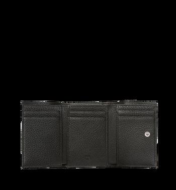 MCM Klara dreifach gefaltete Kleingeldbörse aus Leder mit Monogramm MYS8SKM36BK001 AlternateView4