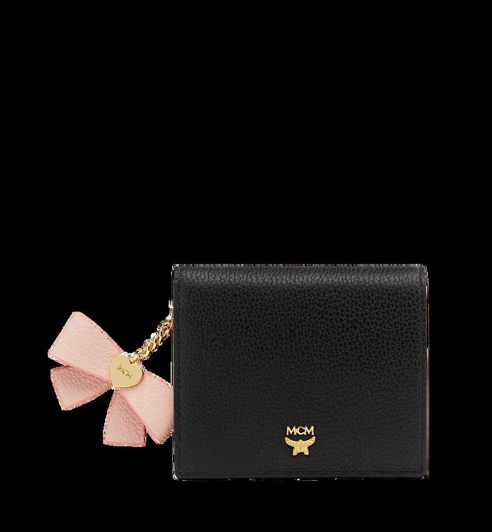 MCM Mina Bow Charm gefaltete Brieftasche aus Leder MYS8SLL70BK001 AlternateView