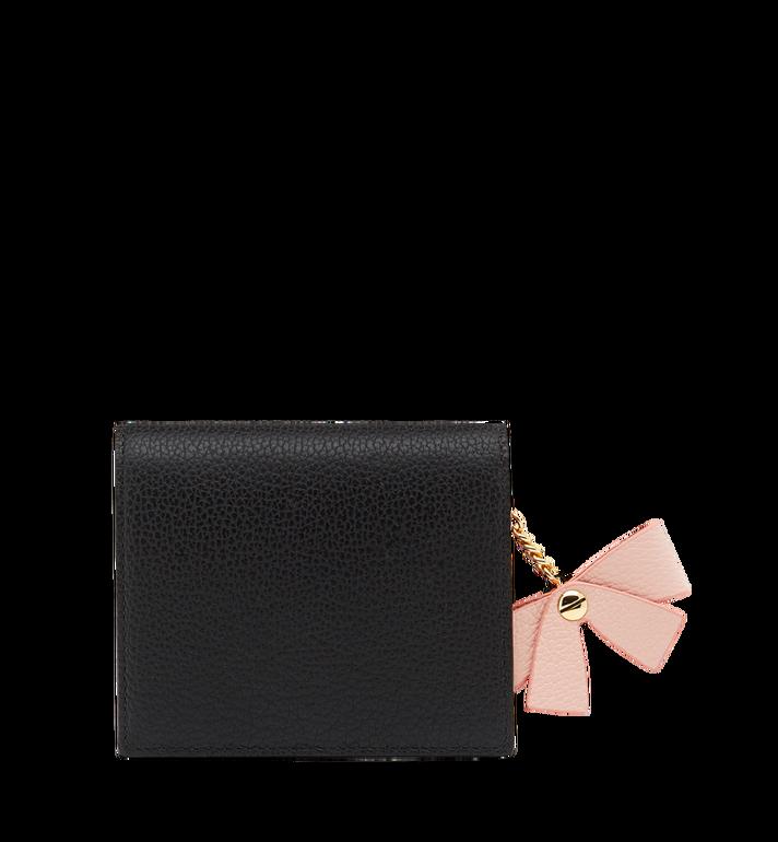 MCM Mina Bow Charm gefaltete Brieftasche aus Leder MYS8SLL70BK001 AlternateView3