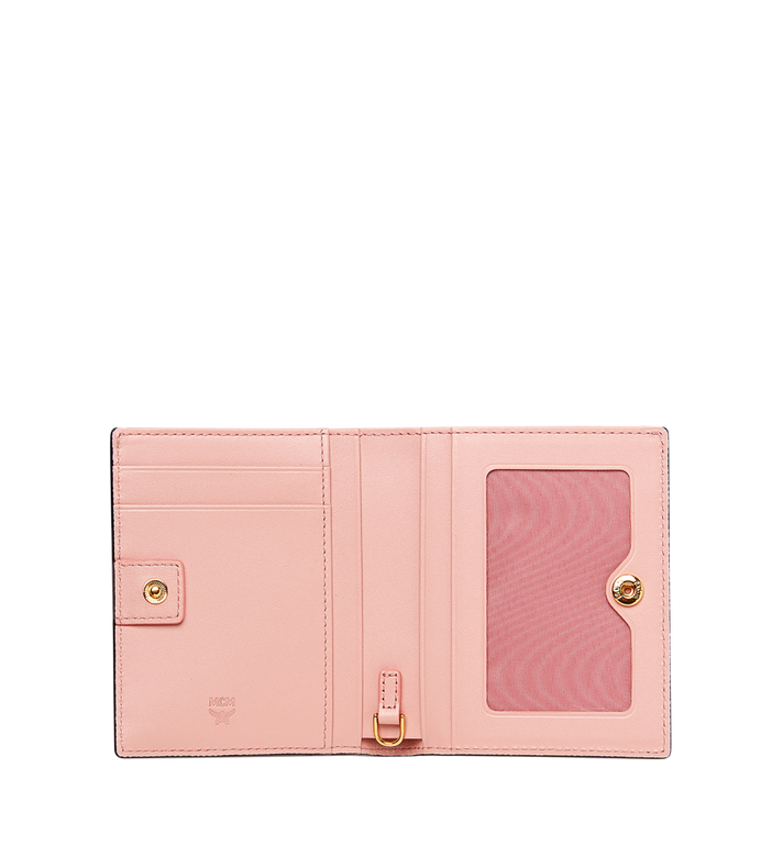 MCM Mina Bow Charm gefaltete Brieftasche aus Leder MYS8SLL70BK001 AlternateView4