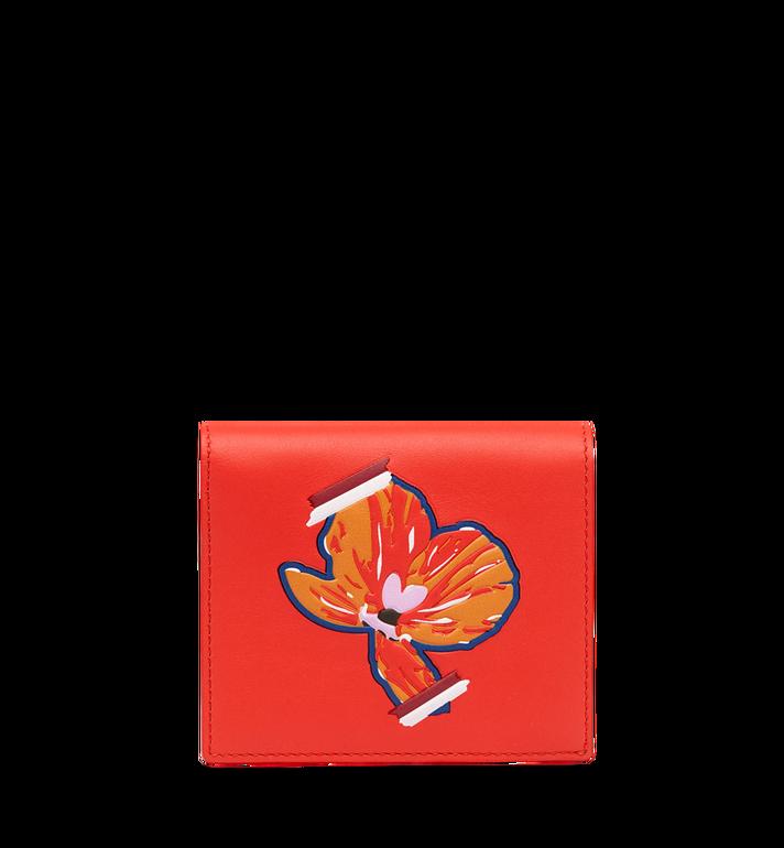 MCM Essential Two Fold Wallet in Victory Flower MYS8SSE07OG001 AlternateView