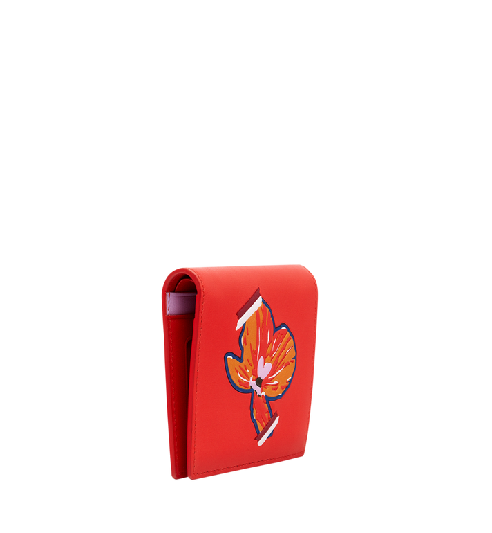MCM Essential Two Fold Wallet in Victory Flower MYS8SSE07OG001 AlternateView2