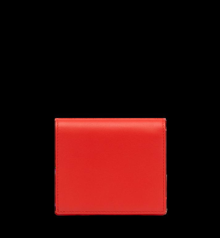 MCM Essential Two Fold Wallet in Victory Flower MYS8SSE07OG001 AlternateView3