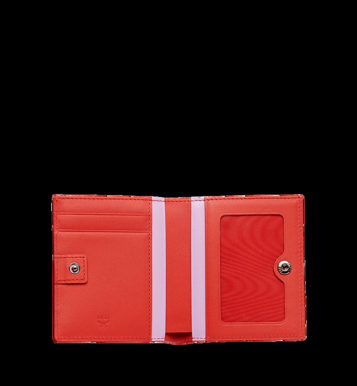 MCM Essential Two Fold Wallet in Victory Flower MYS8SSE07OG001 AlternateView4