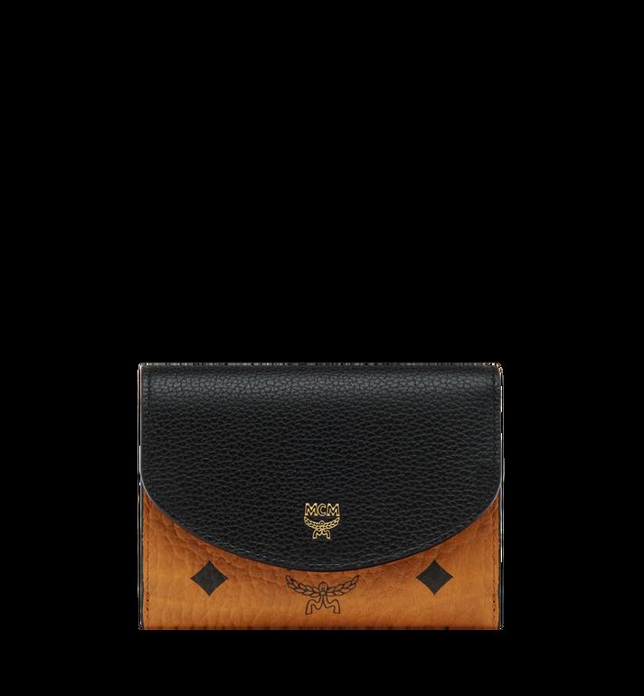 MCM Corina dreifach gefaltete Brieftasche in Visetos Colorblock Leder MYS8SVI06BK001 AlternateView