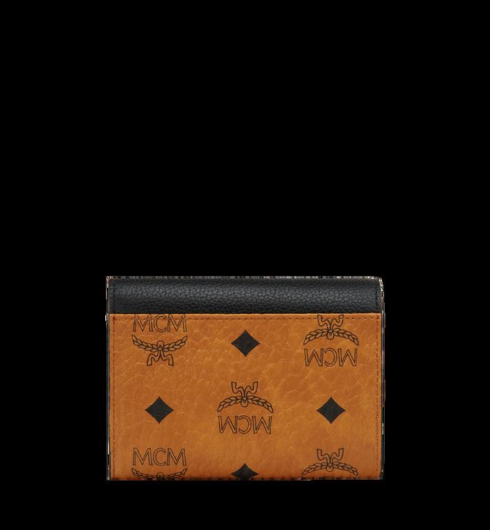 MCM Corina dreifach gefaltete Brieftasche in Visetos Colorblock Leder MYS8SVI06BK001 AlternateView2
