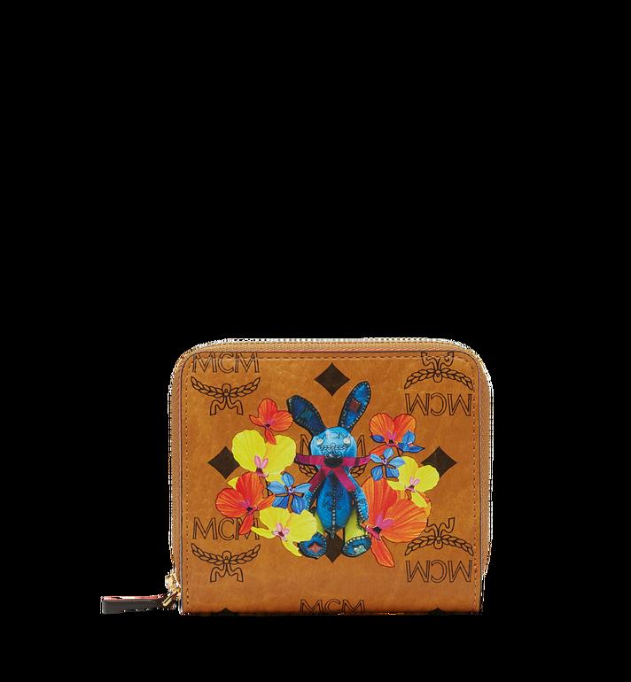 MCM Rabbit Zip Around Wallet in Floral Visetos MYS8SXL33CO001 AlternateView