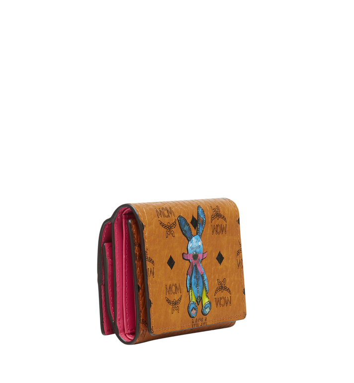 MCM Rabbit Three Fold Coin Case in Visetos MYS8SXL36CO001 AlternateView2